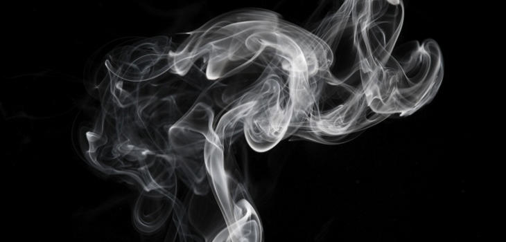 Espacio cargado por una gran concentración de humo