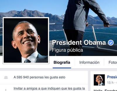 Obama se abre página de Facebook, ¡bienvenido, Mr. President!