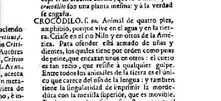 'Crocodilo' era la forma original de la palabra 'cocodrilo