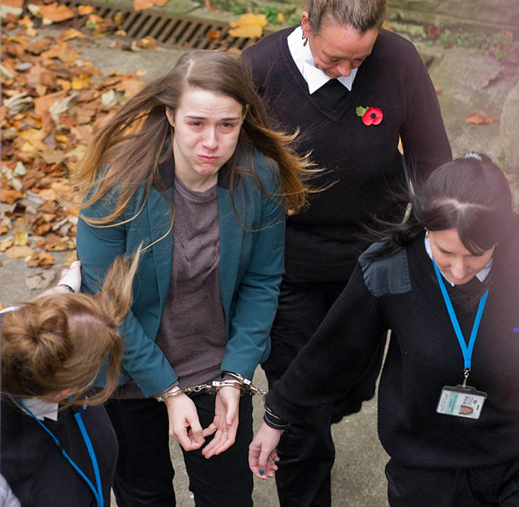 Gayle tras ser condenada (Foto: Andrew Price)