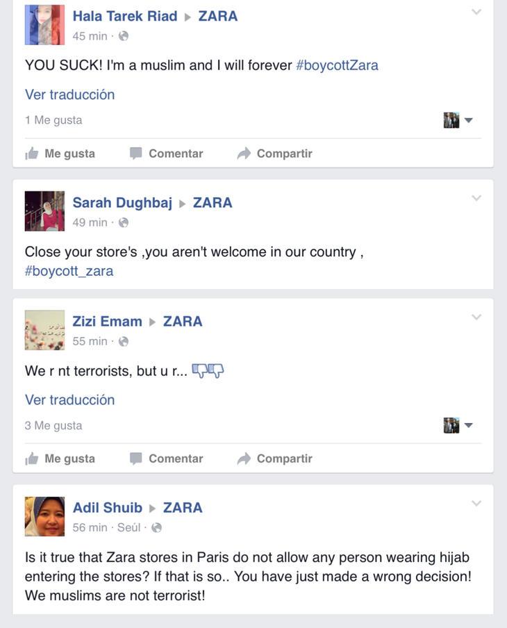 Comentarios críticos a Zara