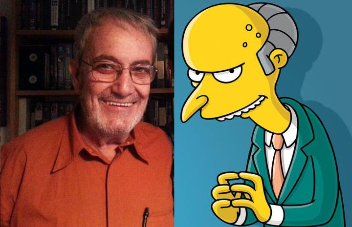 Javier Franquelo es el segundo doblador del Señor Burns