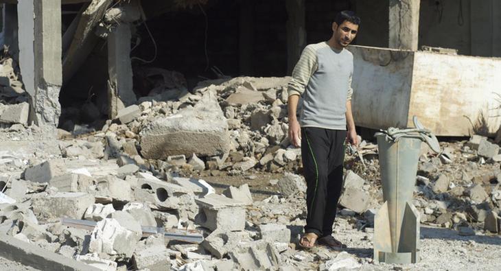 Bomba de racimo en Siria