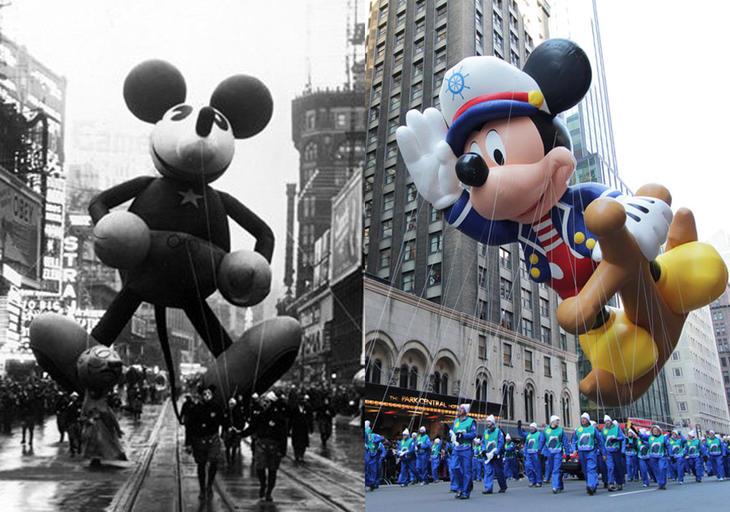 Mickey Mouse antes y ahora
