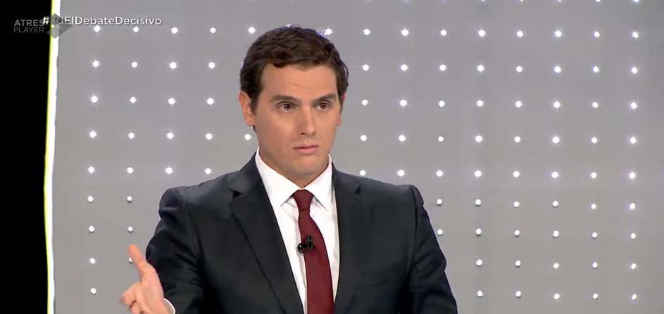 Albert Rivera durante el debate