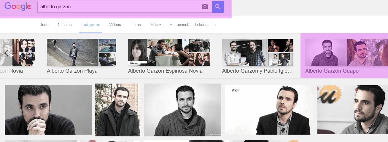 Hasta Google sabe que si buscas a Albert Garzón es para verlo guapo