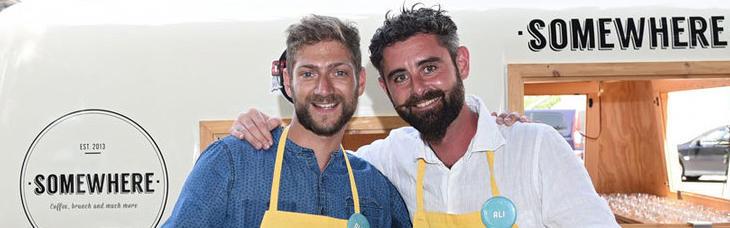 Melhuish y Palmieri en 'Cocineros al Volante'