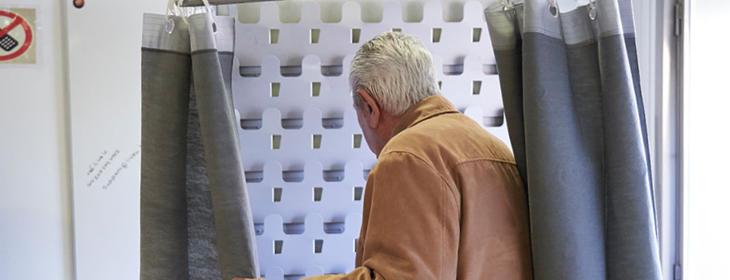 El señor solo quería votar en secreto
