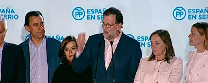 Rajoy sí ha salido en Génova