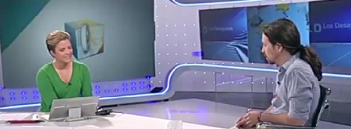 Pablo Iglesias con María Casado