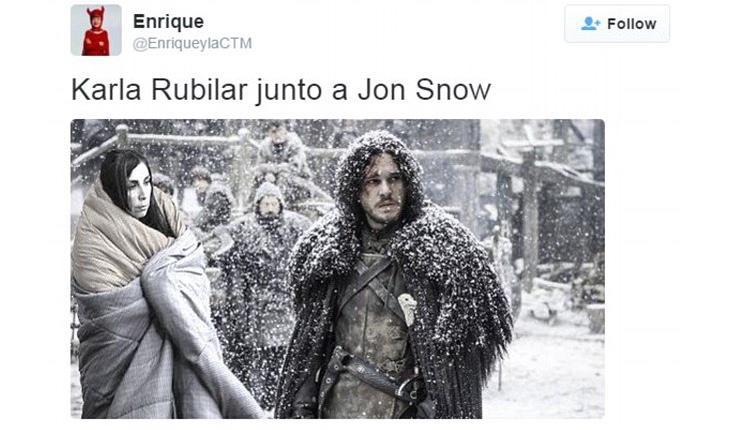 Karla Rubilar junto a Jon Snow