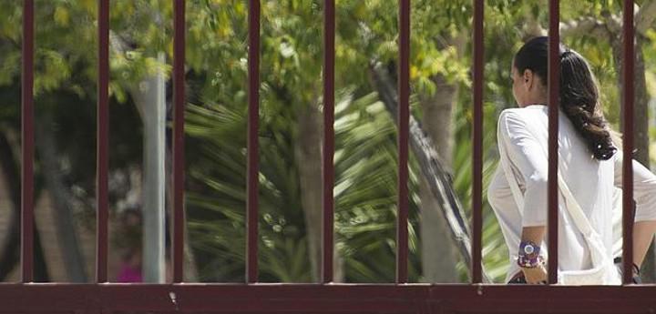 Isabel Pantoja entrando en prisión