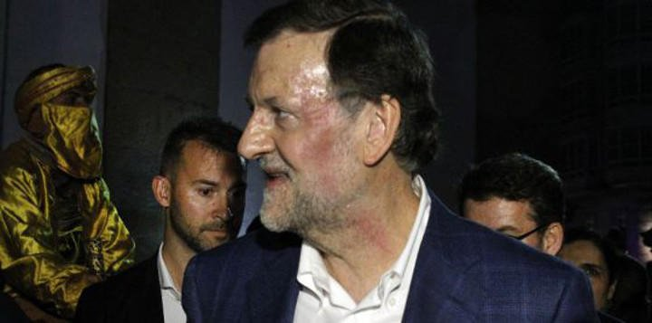 Rajoy tras el puñetazo