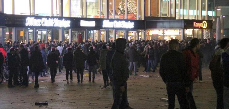 Las calles celebraban la llegada del Año Nuevo
