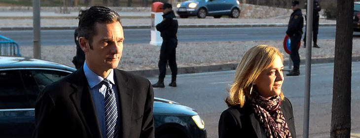 Urdangarín y Cristina llegan al juicio del 11 de enero de 2016