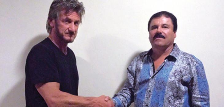 Sean Penn y El Chapo, durante su peculiar encuentro