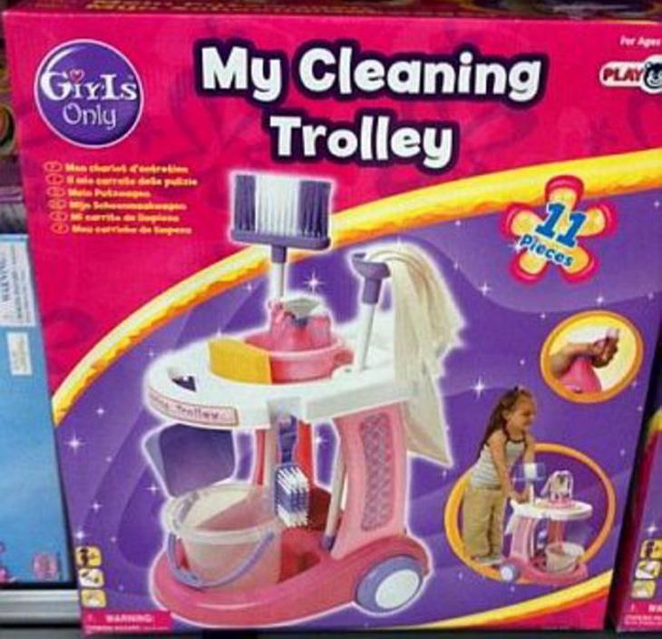 'Mi carrito de la limpieza', de la colección 'Girls only', se lleva la palma