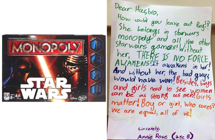 La carta de la niña indignada