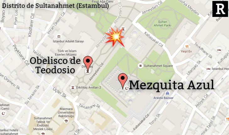 La explosión de ha producido en una zona muy turística
