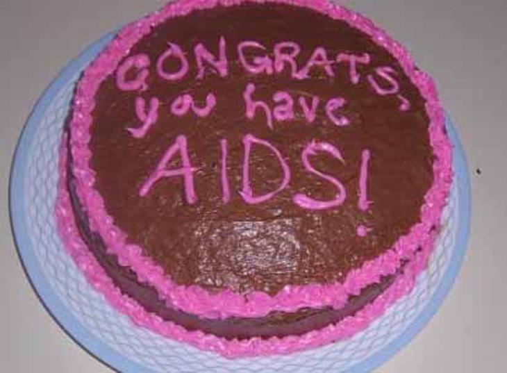 ¡Felicidades, tienes SIDA!