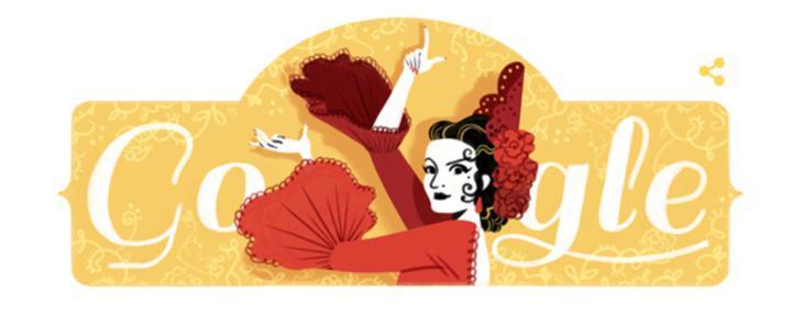El doodle que le ha dedicado Google a Lola Flores