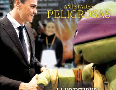 ¿Qué hace la tortuga ninja Donatello con Pedro Sánchez en la portada del ABC?