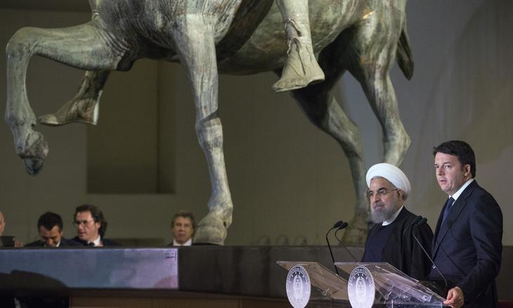 Rouhani y Renzi en los Museos Capitalinos