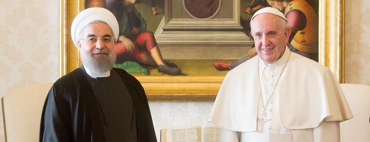 El presidente de Irán y el Papa Francisco