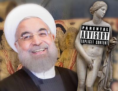 Roma tapa los pechos y genitales de sus estatuas por la visita del presidente de Irán