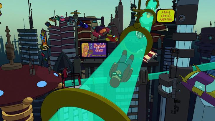 Al final el Hyperloop sería algo parecido a los transportes de tubo de 'Futurama'