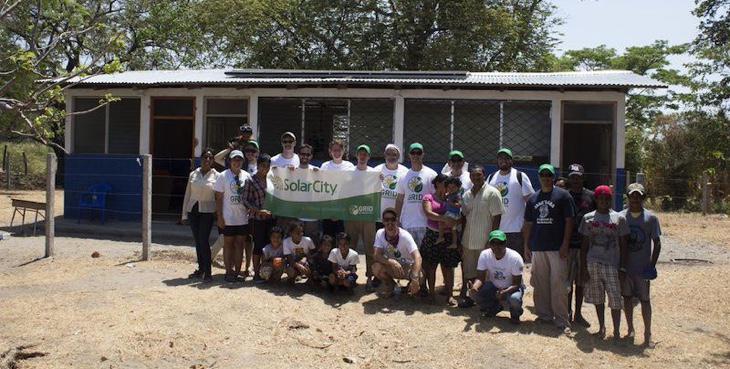Instalación de energía solar en Nicaragua