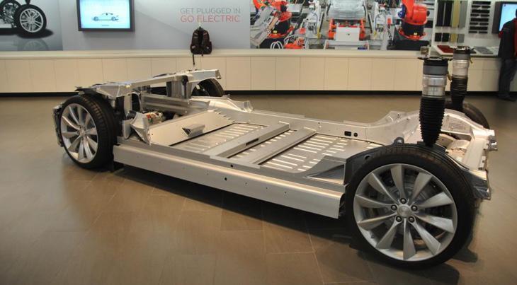 Chasis de un coche Tesla