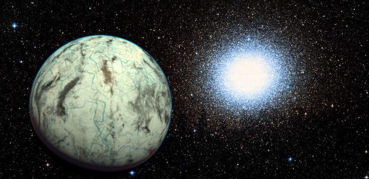 Impresión de un planeta que nada tiene que ver porque el Planeta X no se ha visto