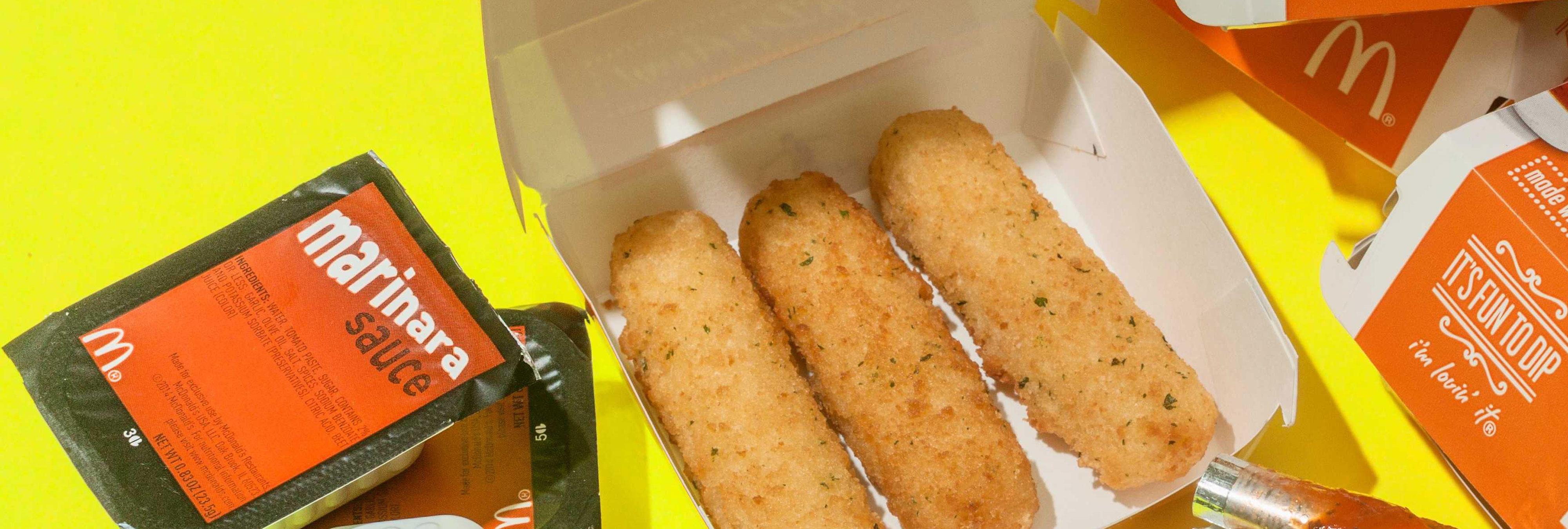 McDonald's lanza palitos de mozzarella sin un ingrediente principal: la mozzarella