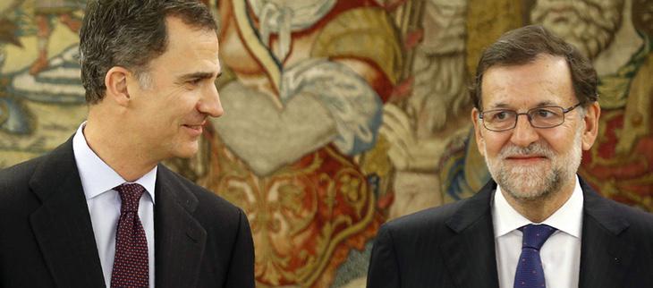 Rajoy y Felipe VI en su encuentro del 2 de febrero