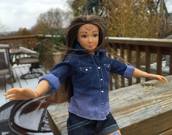 La muñeca creada por Nickolay Lamm también tenía acné