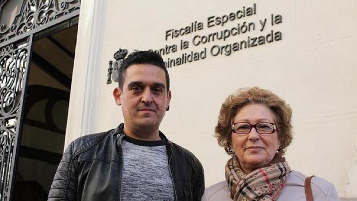 Carles Mulet y Dolors Pérez, senadores de Compromís que quieren ilegalizar al PP
