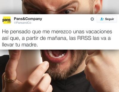 'Las RRSS las va a llevar tu madre': el community de Pans & Company se rebela en el Twitter de la empresa