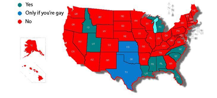 Estados en los que el sexo anal es ilegal