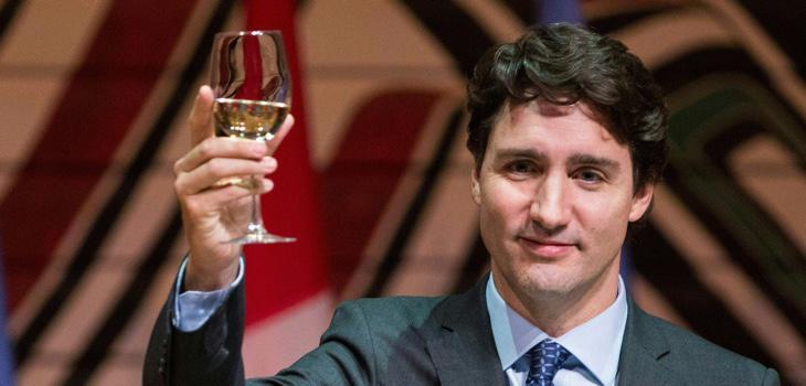 Trudeau se convirtió en el primer ministro canadiense con un 40% de los votos