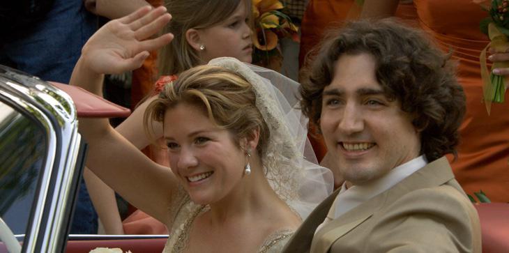 El primer ministro canadiense en su boda, en mayo de 2005