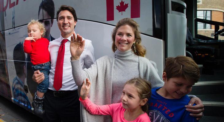 Trudeau con su familia