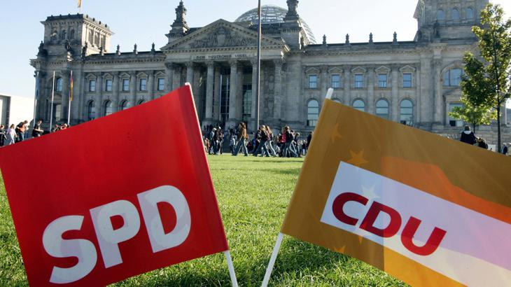 El CDU y SPD, partidos que conforman la gran coalición alemana