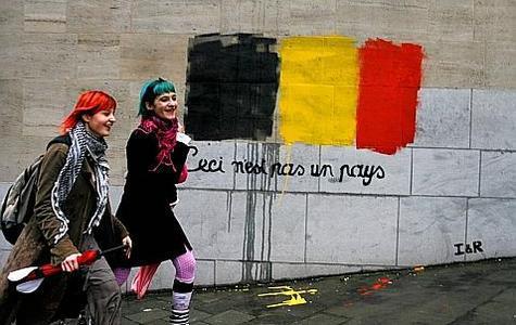 'Esto no es un país', en las calles de Bruselas