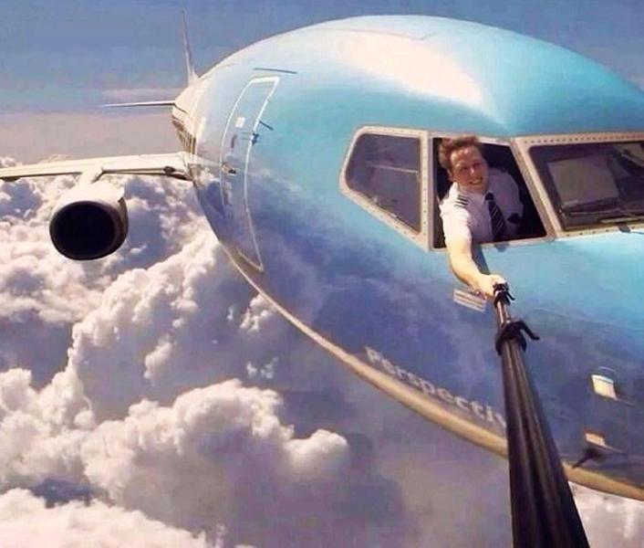 Un selfie en pleno vuelo
