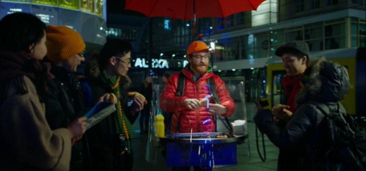 Con paraguas incorporado para no mojarse