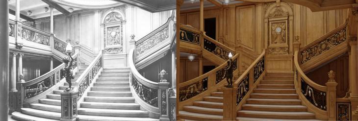 La escalera de 1912 vs a la de 2018