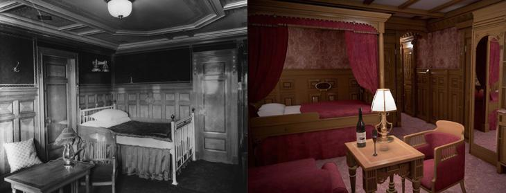 Los camarotes de segunda clase del Titanic, comparados