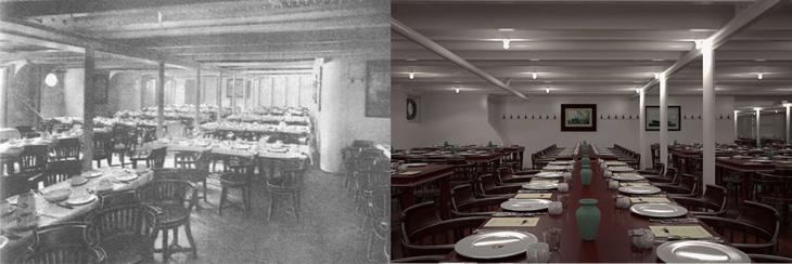 El otro comedor de 1912 vs al de 2018
