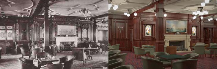 La sala de fumadores de 1912 vs a la de 2018